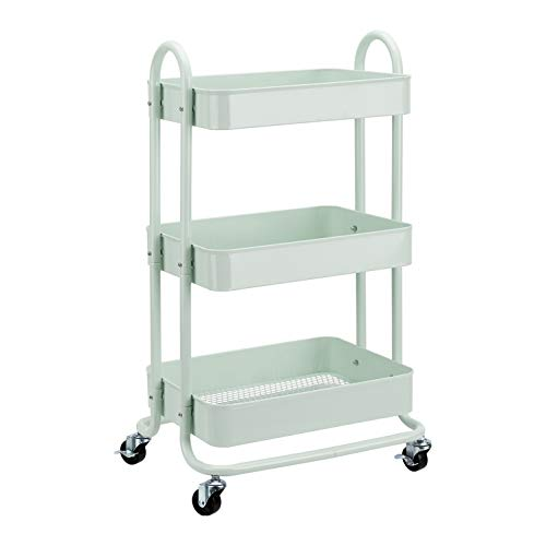 AmazonBasics 3-Tier Rolling Utility or Kitchen Cart - Mint Green