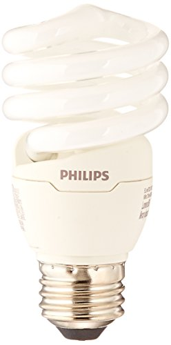 Philips LED Daylight Philips 420091 823031 CFL Light Bulb 13W T2 Twister 6500K, 60 Watt Equivalent 4-Pack, 4