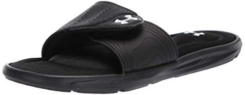 Under Armour Women's Ignite IX SL Slide Sandal, Black (001)/White, 7 M US