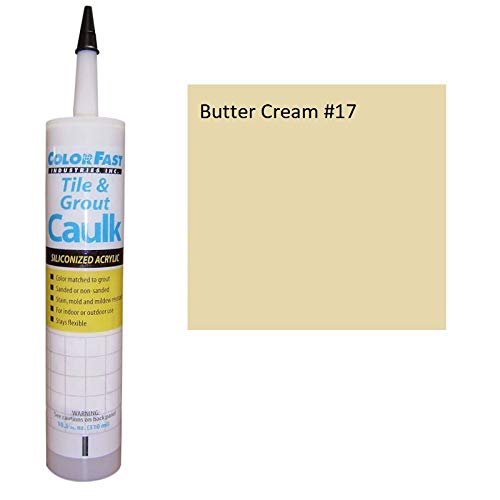 Color Fast Caulk Matched to Custom Building Products (Butter Cream Sanded)