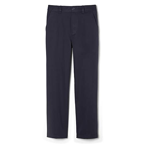 French Toast Boys' Big Pull-On Relaxed Fit Pant (Standard & Husky), Navy, 10