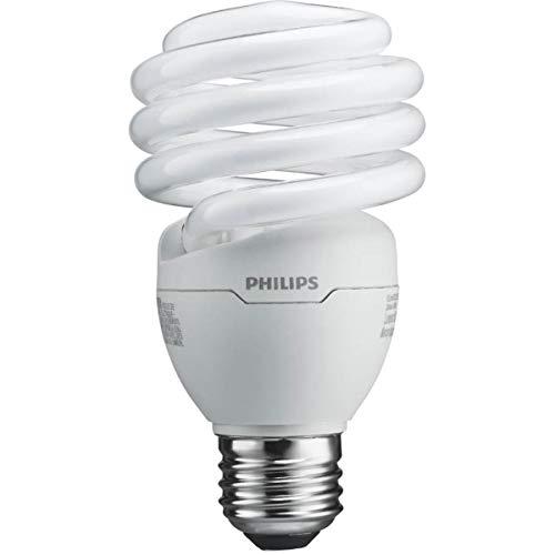 Philips T2 Spiral CFL Light Bulb: 6500K, 100-Watt, Daylight, E26 Medium Screw Base, 4 Pack