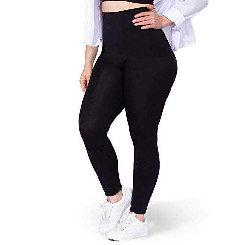 Shapermint High Waisted Leggings for Women - Tummy Control and Full Body Shaping XLarge Black