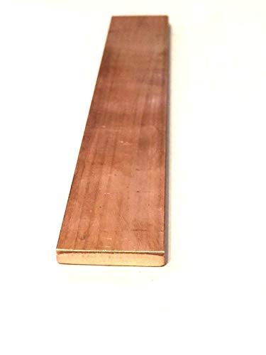 Copper Flat Bar Stock 1/4' x 1' x 6'- Knife making, hobby, craft, C110-1 Bar