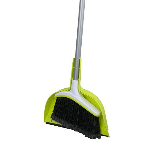Casabella Basics Set Silver and Green, Broom with Dustpan