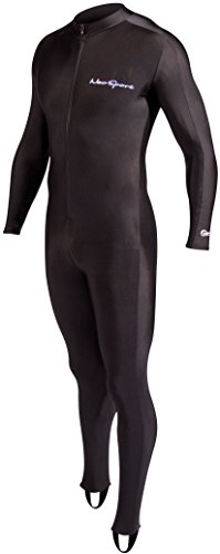 NeoSport Full Body Long Sleeve Lycra Sports Suit for Women and Men – Helps Protect Against UV rays and Skin Irritants - Great for Swimming, Snorkeling, Scuba Diving and All Watersports, Black, XL