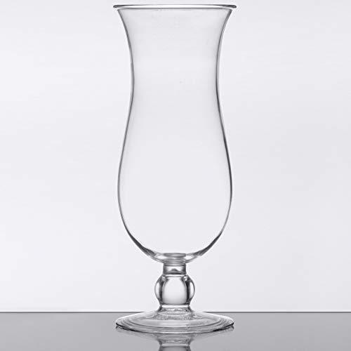 GET HUR-1-CL Cheers BPA-Free Break-Resistant Plastic Hurricane Glasses, 15 Ounce, Clear (Set of 12)