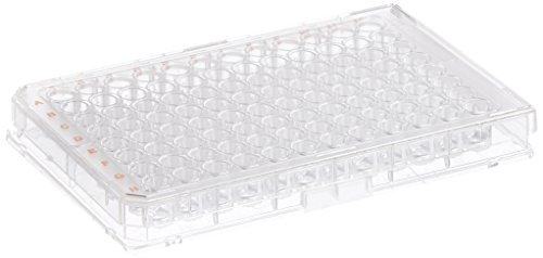 BrandTech 781960 Polystyrene (PS) Transparent CellGrade Sterile U-Bottom 96-well Standard Microplates, Well Volume 330 µl (Pack of 50)