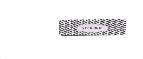 WHCF10ENV - ICD-10 Medical Claim Form Envelope - Small Self Seal Right Window (1000 Ct)