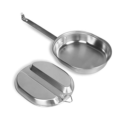 Goetland 304 Stainless Steel US Military Mess Kit Plate Set GI Type Outdoor Camping Hiking Picnic BBQ Beach