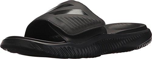 adidas Men's Alphabounce Slide Sport Sandal, Black/Black/Black, 10 M US