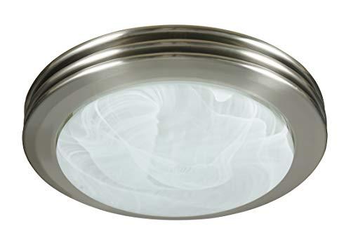 Hunter Home Comfort 90053 Hunter Saturn Decorative Bathroom Ventilation Fan with Light in Brushed Nickel