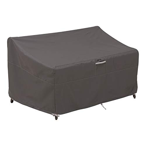 Classic Accessories 55-424-045101-EC  Ravenna Water-Resistant 88 Inch Deep Seated Patio Loveseat Cover,Taupe,Large