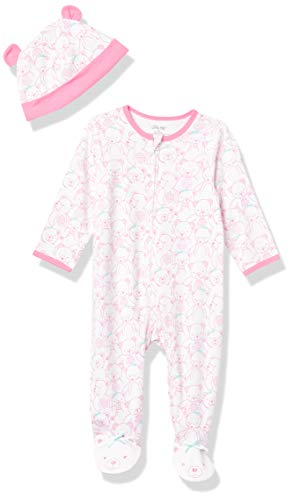Little Me Baby Sleepers Teddy Bear Pink One-Piece Zipper Footie Pajamas for Girls - Newborn