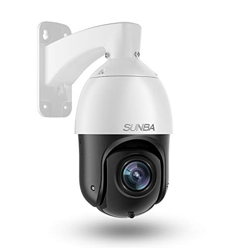 SUNBA 1080p Starlight PoE+ IP PTZ Camera Outdoor, 20x Optical Zoom@H.265, 24x7 Automatic Patrol, up to 328ft Long Range Infrared Night Vision (405-D20X)