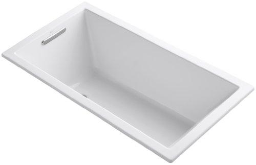 KOHLER K-1130-0 Underscore Rectangle Bathtub, White