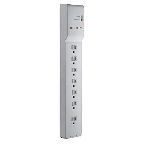 Belkin 7-Outlet Power Strip Surge Protector w/6ft Cord - Ideal for Computers, Home Theatre, Appliances, Office Equipment (2,320 Joules)