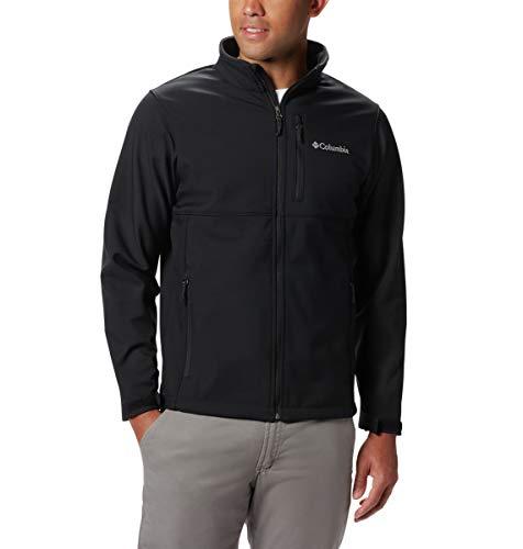 Columbia Men's Ascender Softshell Jacket, Water & Wind Resistant, Black, XX-Large