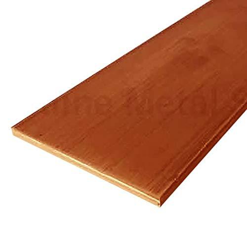 Online Metal Supply C110 Copper Flat Bar, 1/4' x 2-1/4' x 12'