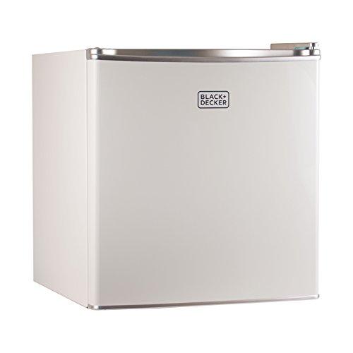 BLACK+DECKER BCRK17W Compact Refrigerator Energy Star Single Door Mini Fridge with Freezer, 1.7 Cubic Ft., White