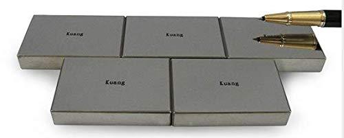 MeterTo 1pcs Professional Standard Vickers Hardness Block 75-150HV5 (Aluminum) Rectangle Hardness Test Block Specular Surface
