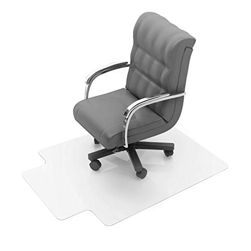 Floortex Polycarbonate Chair Mat with Lip 47' x 35' for Low/Medium Pile Carpets