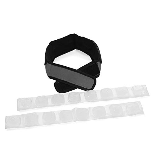 FlexiFreeze Cooling Collar - Neck Cooling Ice Wrap, Charcoal