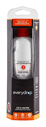EveryDrop by Whirlpool Refrigerator Water Filter 2, EDR2RXD1 (Pack of 1)