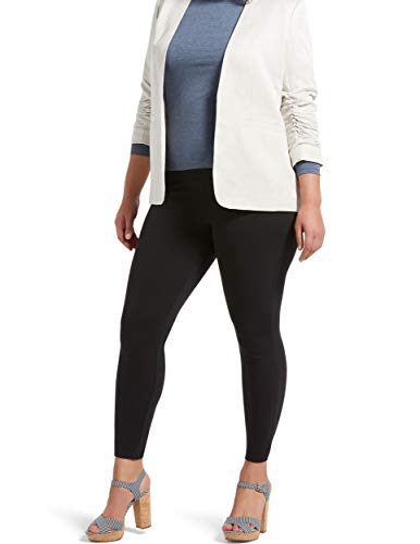 No Nonsense Women's Great Shapes Cotton Shaping Legging, Black, Large