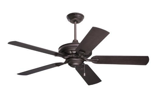 Emerson Ceiling Fans CF552ORB Veranda 52-Inch Indoor Outdoor Ceiling Fan, Wet Rated, Light Kit Adaptable, Oil Rubbed Bronze Finish