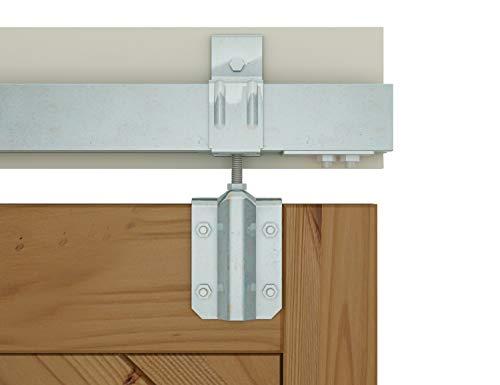 DIYHD 6FT Raw Material Galvanized Box Track Sliding Barn Door Hardware for Exterior Barn Door