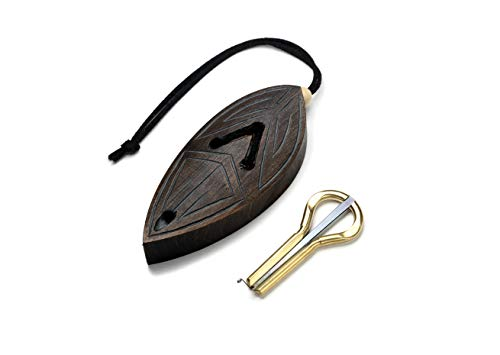 Jew's harp with case jaw harp mouth harp mondharp maultrommel by Pavel Potkin with cedar case'Comet Shard'