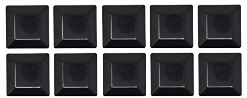 10 PACK-BLACK-6X6 FENCE POST PLASTIC CAP-(5 5/8 X 5 5/8) Pressure Treated Wood Made In USA