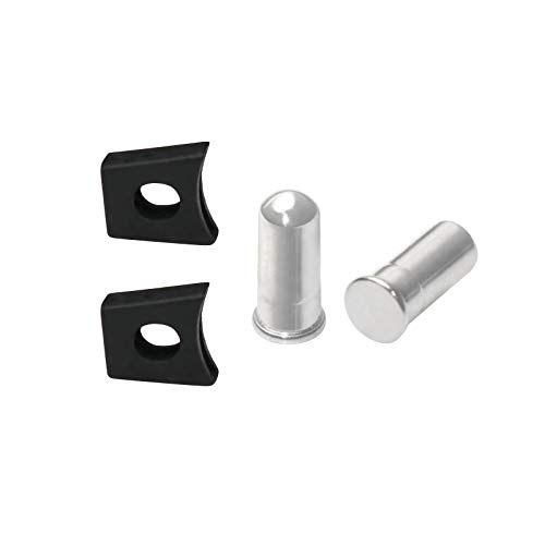 Mryok Nose Bridge Pin Rivet & Flex Coupler for Oakley X Metal Juliet/XX/Penny/Mars/Romeo 2 - Polished Silver