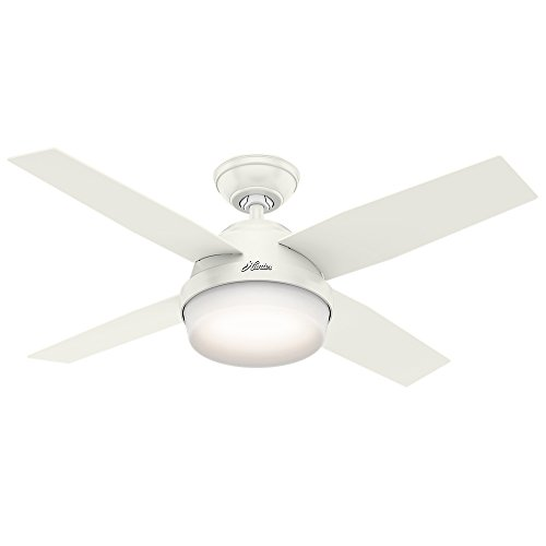 Hunter Fan Company 59246 Hunter 44' Dempsey Fresh White Ceiling Fan with Light and Remote