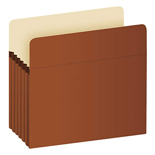Pendaflex Expanding File Pockets, Letter Size, 5.25' Expansion, Reinforced with DuPont Tyvek Material, Letter Size, Redrope, 10 Per Box (1534G-OX)