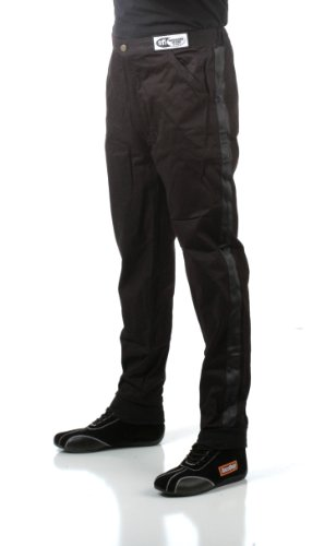 RaceQuip 112005 112 Series Large Black SFI 3.2A/1 Single Layer Driving Pant