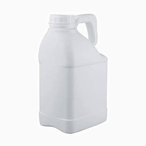 5L Fluorinated Bottle Plastic Square Barrel with Theft-proofing Cap, Bottle Mouth Diameter 63mm, Pack of 1