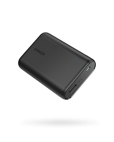 Anker PowerCore 10000 Portable Charger, One of The Smallest and Lightest 10000mAh Power Bank, Ultra-Compact Battery Pack, High-Speed Charging Technology Phone Charger for iPhone, Samsung and More.