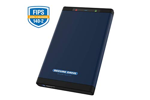 SecureData 2TB SecureDrive BT FIPS 140-2 Hard Drive with Bluetooth Authenticatio, 2 TB