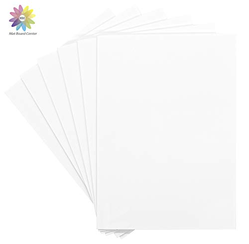 Mat Board Center, Pack of 10 Foam Boards, 11x14 inch (Many Sizes Available) 1/8' Thick, White Foam Core Backing Boards (Acid-Free)