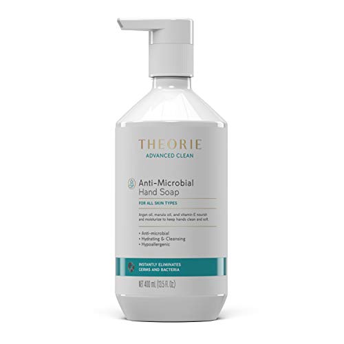 Anti-Microbial Hand Soap 400 ML Advanced Clean - Instantly Kills Germs & Bacteria - For All Skin Types - with Argan Oil, Marula, Oil, Vitamin E - Hydrating & Cleansing for Nourished, Smooth Skin