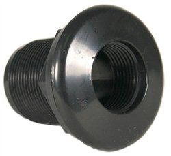 JT Manufacturing Bulkhead 1-1/2' Thread x Slip, Black