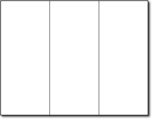 38lb Bond White Trifold Brochures - 200 Brochures - Desktop Publishing Supplies, Inc.™ Brand