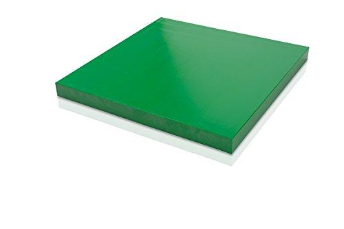 HDPE (High Density Polyethylene) Plastic Sheet 1/2' x 12' x 12' Green Color