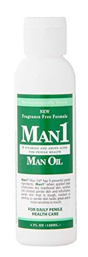 Man1 Man Oil - Penile Health Cream - 3-Month Supply - Treat Dry, red, Cracked or Peeling penile Skin and Improve penile Sensation