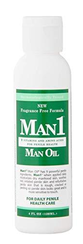 Man1 Man Oil - Penile Health Cream - 3-Month Supply - Treat Dry, red, Cracked or Peeling penile Skin and Improve penile Sensation