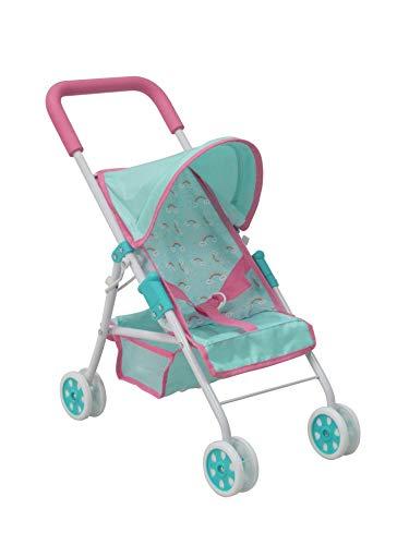 KOOKAMUNGA KIDS Rainbow Easy-Fold Doll Stroller