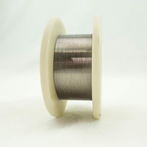0.0012'' (0.0305 mm) Diameter 99.95% Tungsten Fine Wire, 25 feet, Cleaned and straightened