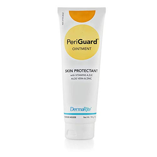 Dermarite PeriGuard Antimicrobial Skin Protectant Ointment, 7 oz Tube - with Vitamins A, D, E, Aloe Vera and Zinc - Clear Moisture Barrier Cream